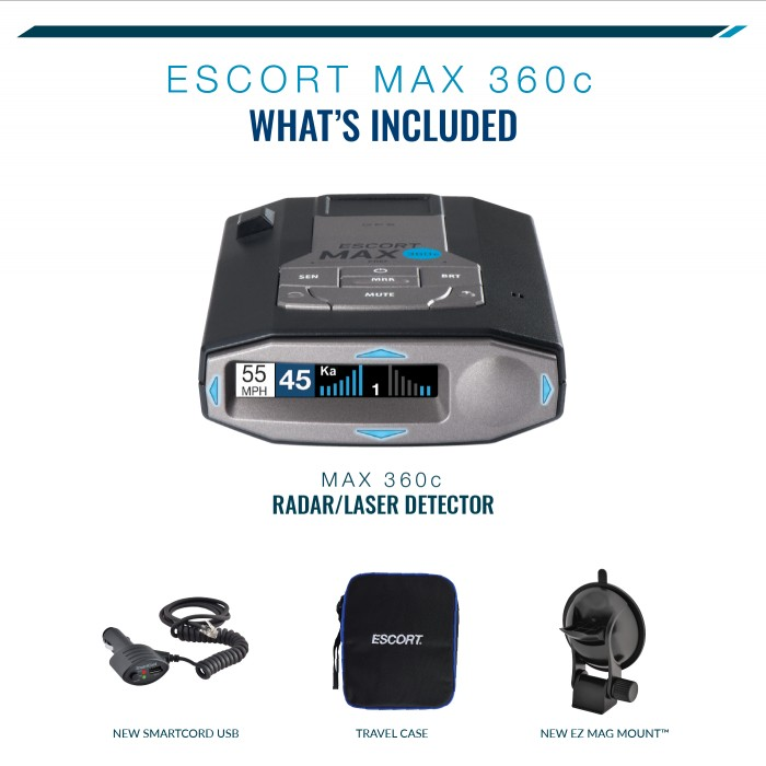 Escort MAX 360c International - What's included