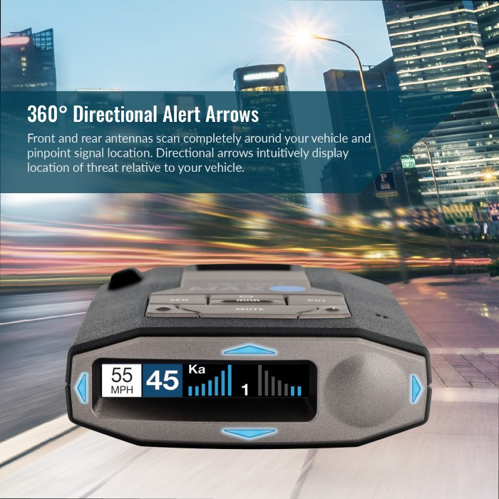 Escort MAX 360c International - 360° Directional Alert Arrow