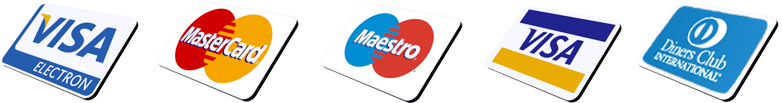 Credit card payment - visa - mastercard - maestro.