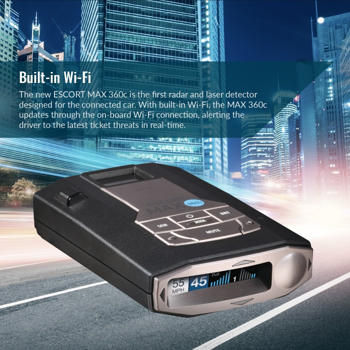 Escort MAX 360c International - Build-In Wi-FI